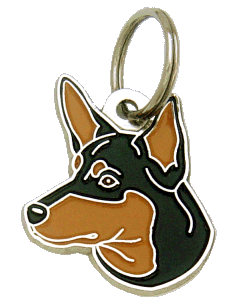AUSTRALSK KELPIE SORT MED TAN - pet ID tag, dog ID tags, pet tags, personalized pet tags MjavHov - engraved pet tags online
