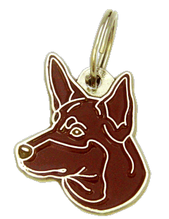 AUSTRALSK KELPIE RØD - pet ID tag, dog ID tags, pet tags, personalized pet tags MjavHov - engraved pet tags online