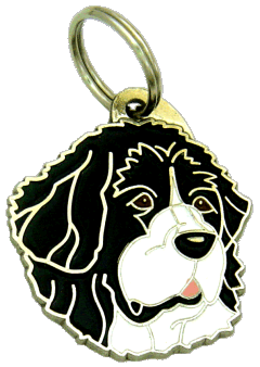 LANDSEER SORT HVID - pet ID tag, dog ID tags, pet tags, personalized pet tags MjavHov - engraved pet tags online