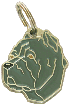 CANE CORSO ITALIANO GRÅ - pet ID tag, dog ID tags, pet tags, personalized pet tags MjavHov - engraved pet tags online