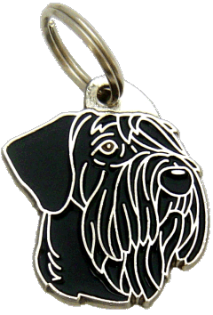 RIESENSCHNAUZER SORT - pet ID tag, dog ID tags, pet tags, personalized pet tags MjavHov - engraved pet tags online