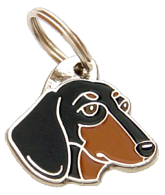 GRAVHUND SORT MED TAN - pet ID tag, dog ID tags, pet tags, personalized pet tags MjavHov - engraved pet tags online