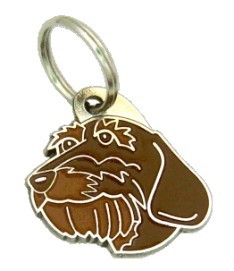 GRAVHUND RUHÅRET BRUN - pet ID tag, dog ID tags, pet tags, personalized pet tags MjavHov - engraved pet tags online