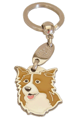 BORDER COLLIE RØD - pet ID tag, dog ID tags, pet tags, personalized pet tags MjavHov - engraved pet tags online