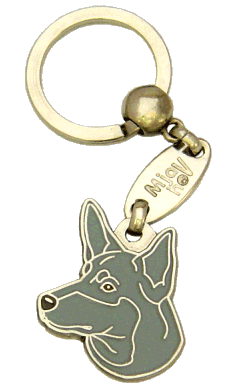 AUSTRALSK KELPIE BLÅ - pet ID tag, dog ID tags, pet tags, personalized pet tags MjavHov - engraved pet tags online