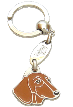 GRAVHUND RØD - pet ID tag, dog ID tags, pet tags, personalized pet tags MjavHov - engraved pet tags online