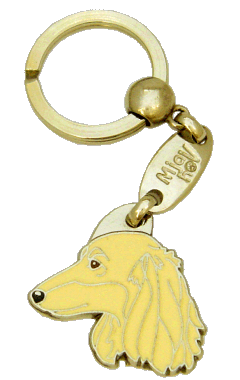 GRAVHUND LANGHÅRET CREME - pet ID tag, dog ID tags, pet tags, personalized pet tags MjavHov - engraved pet tags online