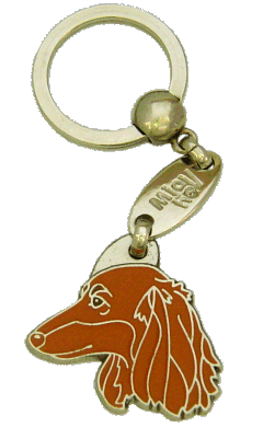 GRAVHUND LANGHÅRET RØD - pet ID tag, dog ID tags, pet tags, personalized pet tags MjavHov - engraved pet tags online