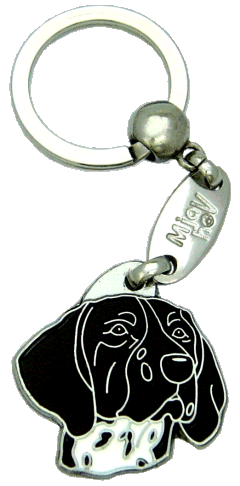 KORTHÅRET HØNSEHUND SORT - pet ID tag, dog ID tags, pet tags, personalized pet tags MjavHov - engraved pet tags online