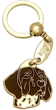 KORTHÅRET HØNSEHUND BRUN - pet ID tag, dog ID tags, pet tags, personalized pet tags MjavHov - engraved pet tags online