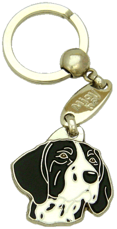 KORTHÅRET HØNSEHUND SORT HVID - pet ID tag, dog ID tags, pet tags, personalized pet tags MjavHov - engraved pet tags online