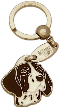 KORTHÅRET HØNSEHUND HVID/BRUN - pet ID tag, dog ID tags, pet tags, personalized pet tags MjavHov - engraved pet tags online