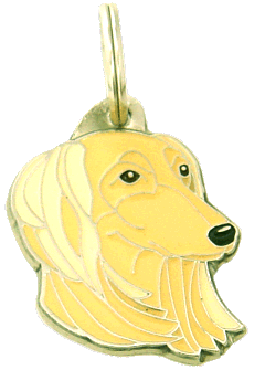 SALUKI CREME - pet ID tag, dog ID tags, pet tags, personalized pet tags MjavHov - engraved pet tags online
