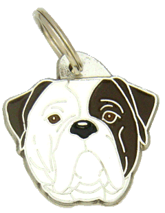 AMERIKANSK BULLDOGG TIGRERING ÖGA - pet ID tag, dog ID tags, pet tags, personalized pet tags MjavHov - engraved pet tags online