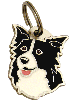 BORDER COLLIE - pet ID tag, dog ID tags, pet tags, personalized pet tags MjavHov - engraved pet tags online