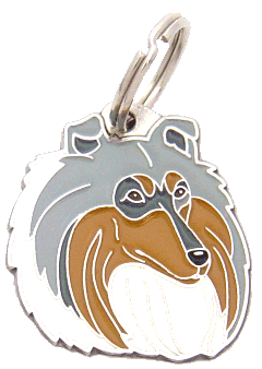 COLLIE BLUE MERLE - pet ID tag, dog ID tags, pet tags, personalized pet tags MjavHov - engraved pet tags online
