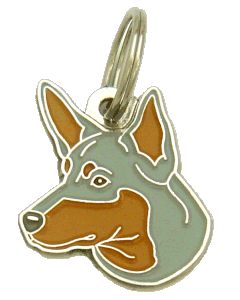 AUSTRALIAN KELPIE  BLÅ/RÖD - pet ID tag, dog ID tags, pet tags, personalized pet tags MjavHov - engraved pet tags online