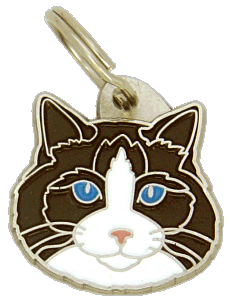 Ragdoll seal bicolor - pet ID tag, dog ID tags, pet tags, personalized pet tags MjavHov - engraved pet tags online