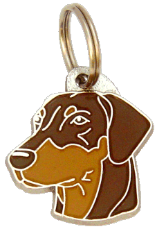 DOBERMANN BRUN - pet ID tag, dog ID tags, pet tags, personalized pet tags MjavHov - engraved pet tags online
