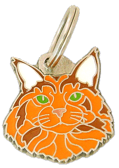 Maine coon röd - pet ID tag, dog ID tags, pet tags, personalized pet tags MjavHov - engraved pet tags online