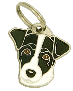 RUSSELL TERRIER SVART/VIT - pet ID tag, dog ID tags, pet tags, personalized pet tags MjavHov - engraved pet tags online
