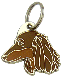 TAX LÅNGHÅRIG BRUN - pet ID tag, dog ID tags, pet tags, personalized pet tags MjavHov - engraved pet tags online