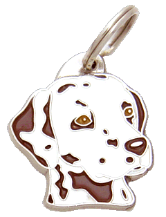 DALMATINER VIT/BRUN - pet ID tag, dog ID tags, pet tags, personalized pet tags MjavHov - engraved pet tags online