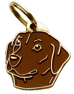 LABRADOR RETRIEVER BRUN - pet ID tag, dog ID tags, pet tags, personalized pet tags MjavHov - engraved pet tags online