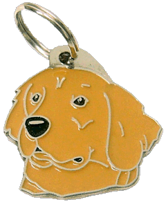 GOLDEN RETRIEVER MÖRKT GULD - pet ID tag, dog ID tags, pet tags, personalized pet tags MjavHov - engraved pet tags online