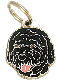 PORTUGISISK VATTENHUND SVART - pet ID tag, dog ID tags, pet tags, personalized pet tags MjavHov - engraved pet tags online