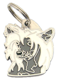 CHINESE CRESTED DOG VIT/GRÅ - pet ID tag, dog ID tags, pet tags, personalized pet tags MjavHov - engraved pet tags online