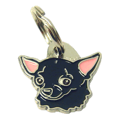 CHIHUAHUA SVART - pet ID tag, dog ID tags, pet tags, personalized pet tags MjavHov - engraved pet tags online