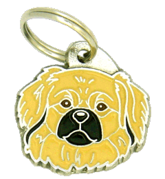 TIBETANSK SPANIEL CREME - pet ID tag, dog ID tags, pet tags, personalized pet tags MjavHov - engraved pet tags online