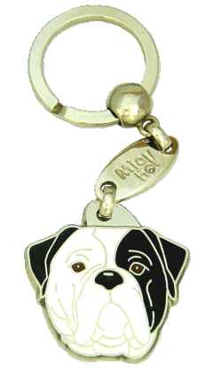 AMERIKANSK BULLDOGG SVART ÖGA - pet ID tag, dog ID tags, pet tags, personalized pet tags MjavHov - engraved pet tags online