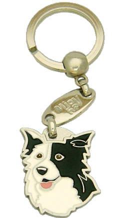 BORDER COLLIE SVART ÖRA - pet ID tag, dog ID tags, pet tags, personalized pet tags MjavHov - engraved pet tags online