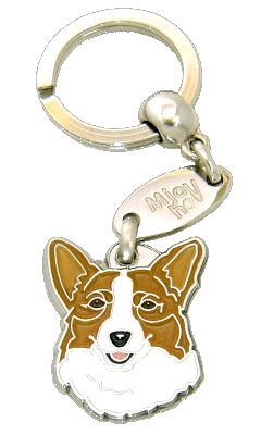 WELSH CORGI RÖD - pet ID tag, dog ID tags, pet tags, personalized pet tags MjavHov - engraved pet tags online