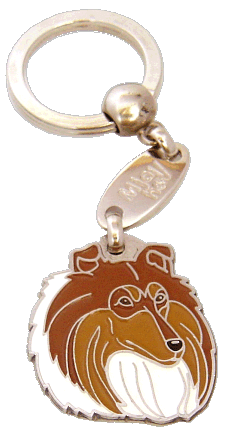 COLLIE SOBEL OCH VIT - pet ID tag, dog ID tags, pet tags, personalized pet tags MjavHov - engraved pet tags online