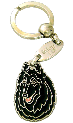 BELGISK VALLHUND, GROENENDAEL - pet ID tag, dog ID tags, pet tags, personalized pet tags MjavHov - engraved pet tags online