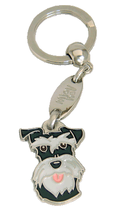 SCHNAUZER SVART/SILVER - pet ID tag, dog ID tags, pet tags, personalized pet tags MjavHov - engraved pet tags online