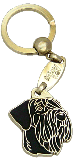 RIESENSCHNAUZER SVART - pet ID tag, dog ID tags, pet tags, personalized pet tags MjavHov - engraved pet tags online