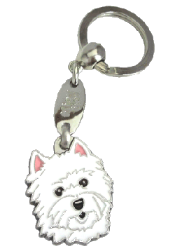 WEST HIGHLAND WHITE TERRIER - pet ID tag, dog ID tags, pet tags, personalized pet tags MjavHov - engraved pet tags online