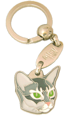 Abessiner blå - pet ID tag, dog ID tags, pet tags, personalized pet tags MjavHov - engraved pet tags online