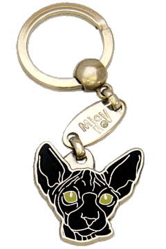 SPHYNX SVART - pet ID tag, dog ID tags, pet tags, personalized pet tags MjavHov - engraved pet tags online