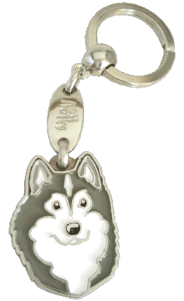 ALASKAN MALAMUTE GRÅ/VIT - pet ID tag, dog ID tags, pet tags, personalized pet tags MjavHov - engraved pet tags online