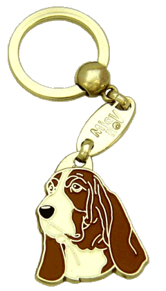 BASSET HOUND BRUN - pet ID tag, dog ID tags, pet tags, personalized pet tags MjavHov - engraved pet tags online
