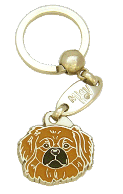 TIBETANSK SPANIEL BRUN - pet ID tag, dog ID tags, pet tags, personalized pet tags MjavHov - engraved pet tags online