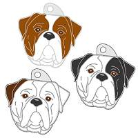 pet tags MjavHov - AMERICAN BULLDOG