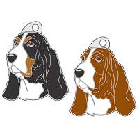 pet tags MjavHov - BASSET HOUND