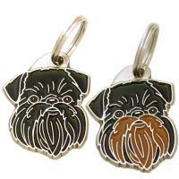 pet tags MjavHov - GRIFFON BELGE BLACK & TAN