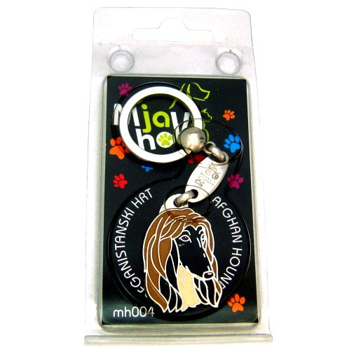 Custom personalized dog name tag AFGHAN HOUND